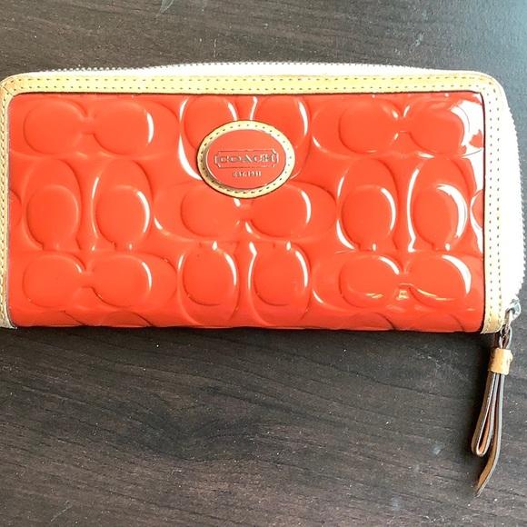 Coach Handbags - Coach Peyton Zip around Patent Leather Wallet